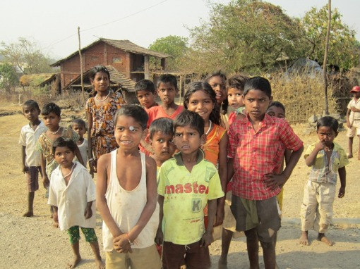 The children of the Adivasi tribal community.